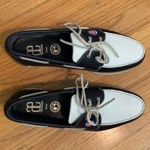 RARE Allen Edmonds Cubs boat shoes **IN BOX